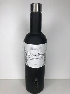 New Brumate WINESULATOR™ 25 OZ Wine Canteen Matte Black NO BOX