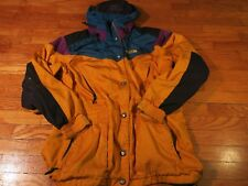 VTG 90's North Face Yellow Hooded Zip Up Jacket Mens Medium L Womens XL