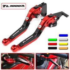 CNC Motorcycle Folding Extend Brake Clutch Levers Set fit Suzuki TL1000R 98-03