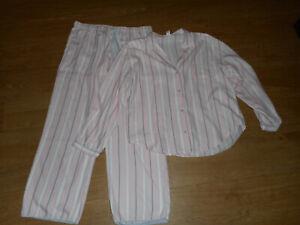 Victoria's Secret pyjamas size L pink white grey cotton-blend