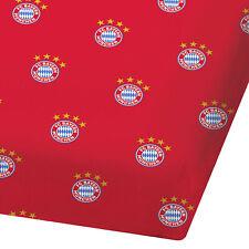 FC Bayern München Spannbettlaken 90-100 x 190-200cm Bettlaken Spannbett Betttuch