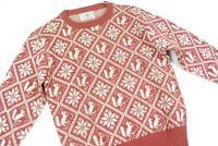 Vintage 60s Robert Bruce Jacquard Knit Wool Sweater Hipster Rockabilly Christmas