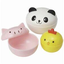 Torune Donburi Bowl Animal Cup Case Container Chick Pig Panda