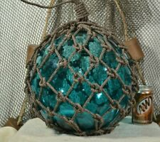 Vintage Glass Fishing Float In Turquoise