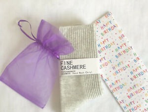 PURE LUXURY 100% Cashmere Bed Socks Soft Warm Perfect Birthday Gift Wrapped Up