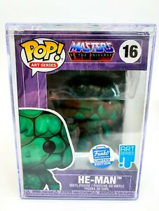 Masters of the Universe - Art Series He-Man Ltd Ed Funko Pop 16 with Hard Stack
