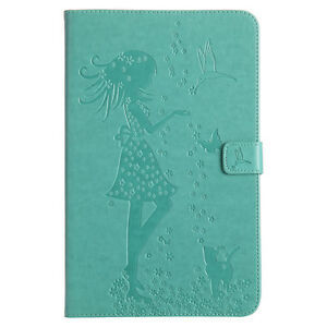 Girl Cat Wallet Leather Flip Case Cover For Samsung Tab T580 T560 T510 T290 T860