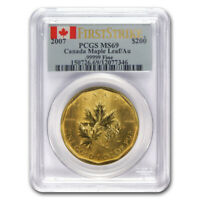 2007 1 oz Canadian Gold Maple Leaf $200 Coin PCGS MS 69 First Strike