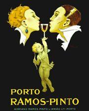 Porto Ramos-Pinto -  Art Deco  Wine Ad Art Poster 16X20 ETP008