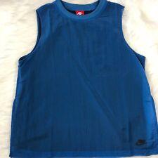 Nike Women's Blue Tech Hypermesh Sportswear Tank Top Size Large NWT Sleeveless