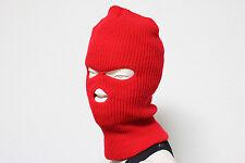 3 Hole Ski Mask Full Face Beanie Cap Unisex Hat Winter Sports Hunting Snow Board