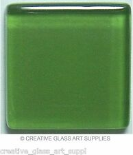 50 ct - 3/8 inch Grass Green Glass Mosaic Tiles