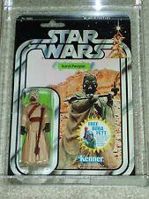 Vintage Star Wars KENNER 1978 AFA 80 SAND PEOPLE ANH 20 BACK-H MOC CLEAR BUBBLE!