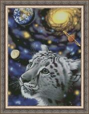 Counted Cross Stitch Kit - White Tiger And Universe