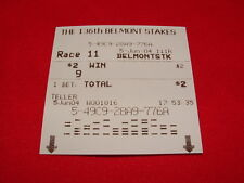 SMARTY JONES $2 WIN TICKET 2004 BELMONT STAKES HIS LAST HORSE RACE