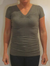 Tommy Hilfiger Denim V-Neck Shirt [s]Ladies T-Shirt Grey New & Original Package