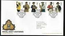 GB 2009 FDC Military Uniforms , Navy, special handstamp Portsmouth Stamps
