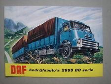 DAF  2000 DO Serie trucks  catalogus / brochure / Prospekt  ca.1960.