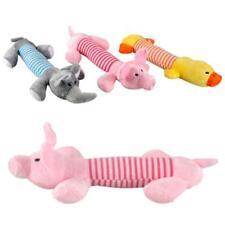 3Pcs/Set Dog Plush Sound Chew Squeaker Pig Elephant Duck Squeaky Pet Soft Dolls
