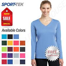 Sport Tek Womens Long Sleeve Dri-Fit PosiCharge Workout XS-4XL T-Shirt LST353LS