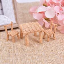 Juego de 1 Mesa de jardín Hadas Miniatura silla de resina artesanal Micro Paisaje Ornamento LD