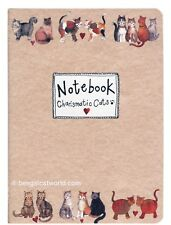 """Alex Clark Cat Kitten Soft Cover Medium Notebook Lined Pages """"Charismatic Cats"""""""