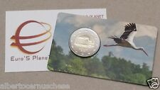 coin card 2 euro 2015 LETTONIA cicogna stork storch Lettonie Lettland Latvia