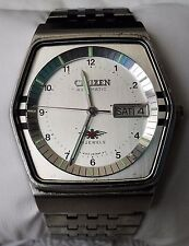 1982 Citizen Eagle 7 4-280903KT 21 Jewels 8200A Mvmt Day/Date w/ Stainless Band