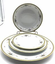 Vintage Noritake China 4 Piece Place Setting Elegant Pattern Rosemary Dinnerware