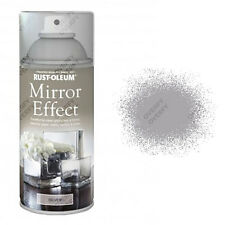 x2 Rust-Oleum Mirror Effect Spray Paint Silver Gloss Finish Art And Craft 150ml