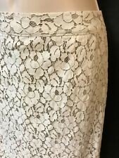 Apt 9 Lace Overlay Pencil Skirt Tan Lined Size 4