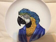 West Elm Rachel Kozlowski Dapper Animal Plate Macaw NEW