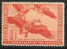 Rw11 1944 Federal Duck Stamp F-Vf Unsigned No Gum- No Fault-May have Se