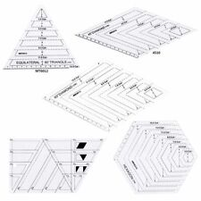 Quilting Rulers 5 Pcs Set Sewing Patchwork DIY Craft Scale Triangle Tools Kit