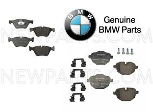 For BMW F10 528i 528i xDrive Pair Set of Front & Rear Brake Pad Sets Genuine