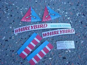 REMCO WHIRLYBIRD COMPLETE STICKER SET