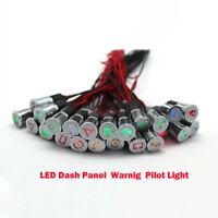 12V 12mm Symbol LED Dash Panel Warning Pilot Indicator Signal Light Car Boat US