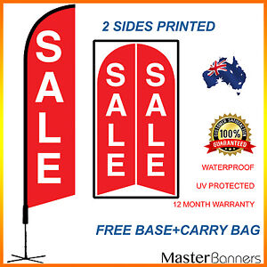 SALE Double Sided Feather Bow Outdoor Advertising Promotional Banner/Flag Kit
