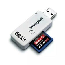 INTEGRAL USB 2.0 SINGLE SLOT MEMORY SD READER CARD READER WRITER SD SDHC SDXC