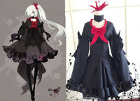 Anime Pokemon Pocket Monsters Darkrai Black Dress Cosplay costume