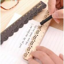 Korea Zakka Kawaii Stationery LACE Wood Ruler Sewing Ruler Random 1pc