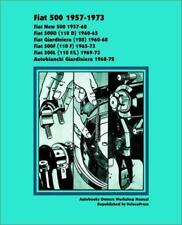 FIAT 500 AUTOBIANCHI GIARDINIERA Owners Repair Service Manual Workshop Handbook