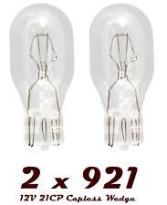 2 x 921 12v 18w 955 Bulb Bulbs HIGH LEVEL BRAKE STOP LIGHT Capless Wedge T15 NEW