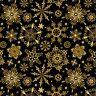 Christmas Joy Metallic By Studio E Fabrics - Black Snowflakes  #4695M-99