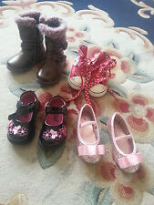 Baby Girl Shoes Boots bundle Size Uk 4 infant 4 pairs