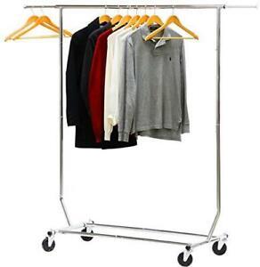 Simple Houseware Supreme Commercial Grade Clothing Garment Rack, Chrome