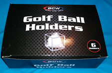 6 Clear Plastic Display Cases for Rare Callaway Truvis & Ping Eye Golf Balls
