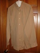 Saddlebred men's button down shirt size L Large LS USED WORN tan