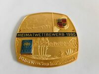 Vintage PORSCHE Club Meeting Collectibles Enamel Grille Badge Emblem Sign Emblem