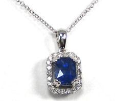 Routinely Enhanced Natural Sapphire Fine Necklaces & Pendants